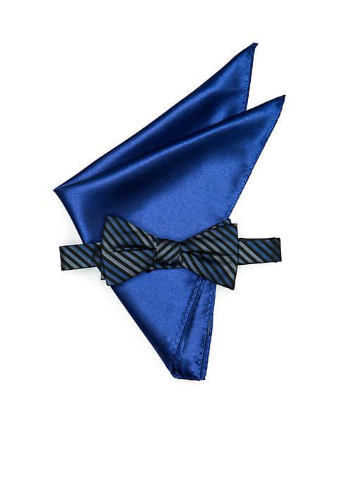 Madison Tyler Stripe Pre-Tied Bow Tie Set