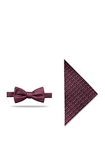 Madison Pocket Square and Bow Tie Set