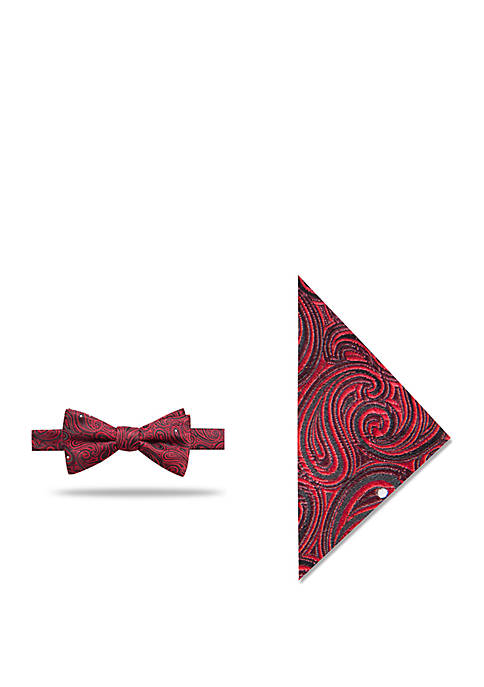 Madison Locke Pine Bow Tie and Pocket Square