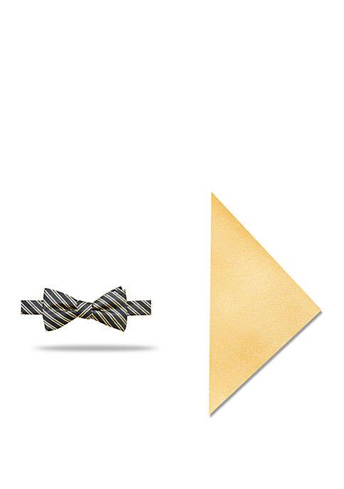 Madison Lunar Stripe Bow Tue and Pocket Square