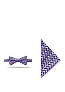 2-Piece Landis Non-Solid Bow Tie and Pocket Square Set