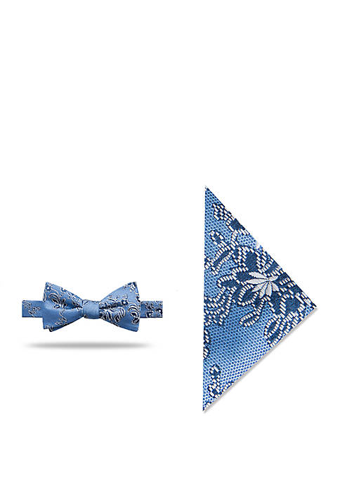 Millie Floral Bow Tie and Pocket Square Set