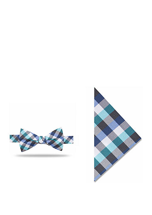fcb269e3eef0 Madison Howie Check Bow Tie and Pocket Square