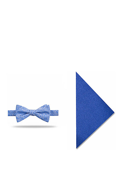 Madison Mercury Vine Bow Tie with Pocket Square