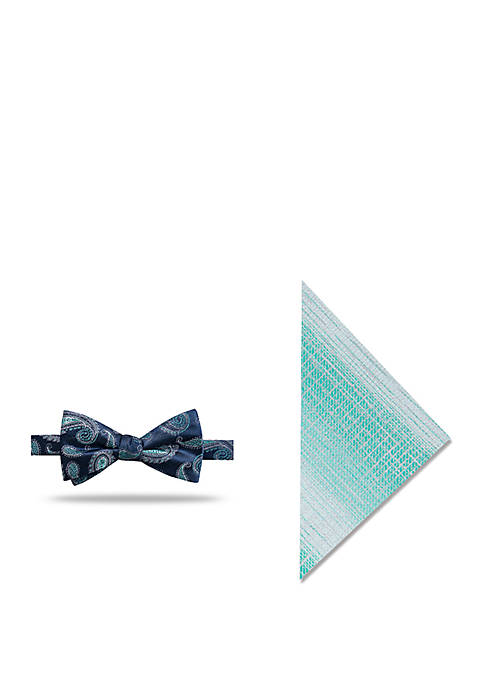 Madison Algol Pine Bow Tie and Pocket Square