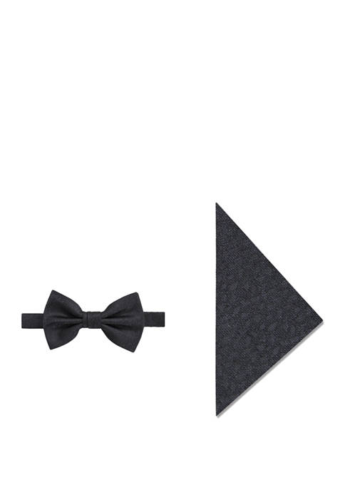 Madison Mens Zola Tonal Floral Bow Tie and
