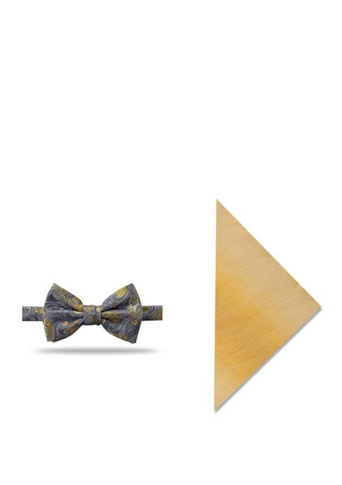Madison Sacramento Paisley Bow Tie and Solid Pocket