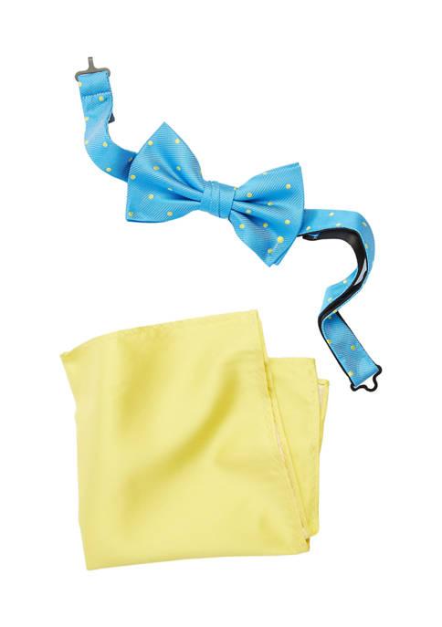 Tanya Dots Bow Tie and Pocket Square Set