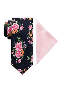 Madison Garten Floral Tie and Pocket Square Set
