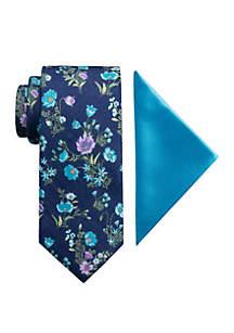 Madison Gunner Floral Tie and Pocket Square Set
