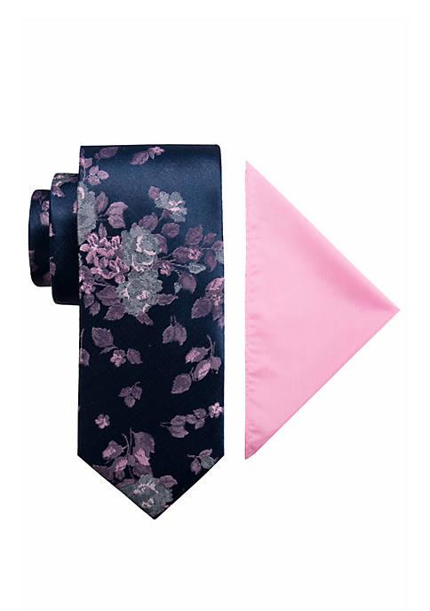 Hialeah Floral Tie and Pocket Square Set