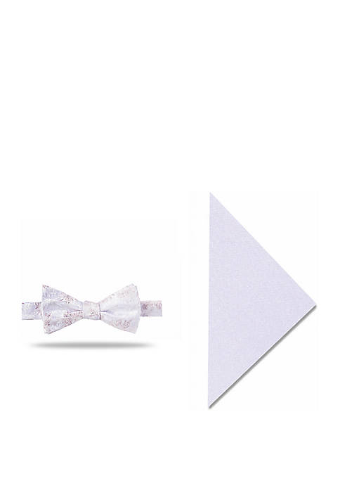 Hampton Floral Bow Tie and Pocket Square Set