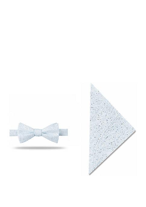 Madison Hesperia Paisley Bow Tie and Pocket Square