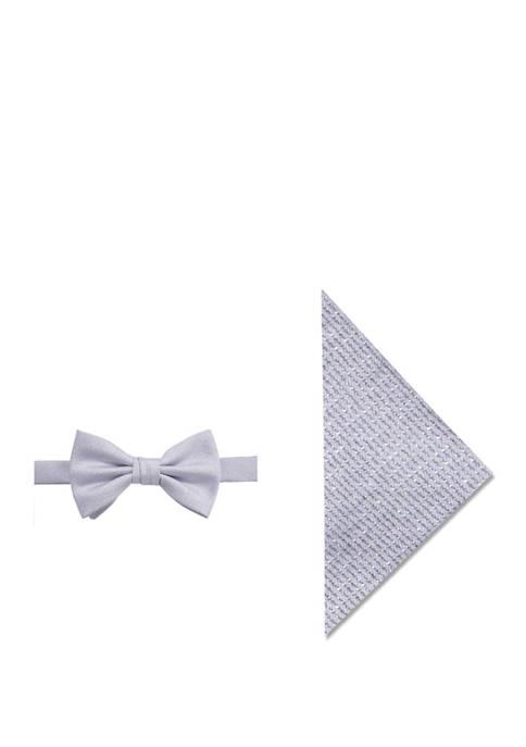 Travis Glitz Tie and Pocket Square Set