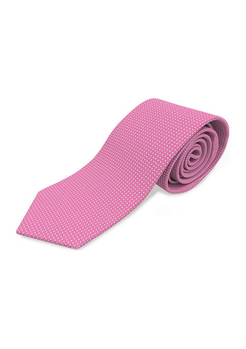 Hugo Boss Micro Dot Solid Pink Tie