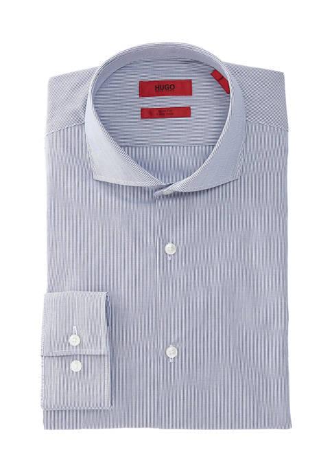 Hugo Boss Slim Fit Navy Stripe Dress Shirt