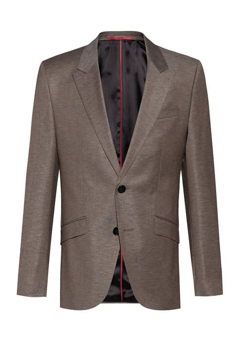 Hugo Boss Mens Solid Brown Sport Coat