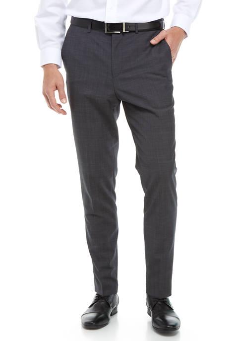 Hugo Boss Dark Blue Textured Pants