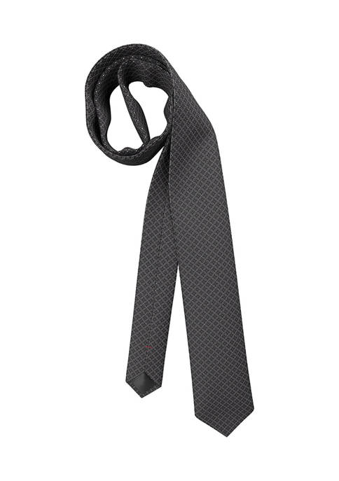 Hugo Boss Connected Dot Black Tie