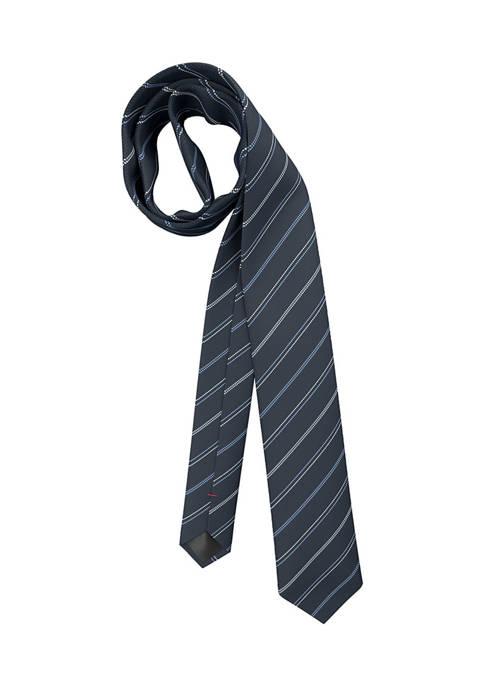 Hugo Boss Textured Stripe Dark Blue Tie