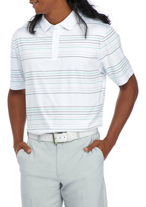 PGA TOUR Short Sleeve 3-Color Stripe Polo Shirt