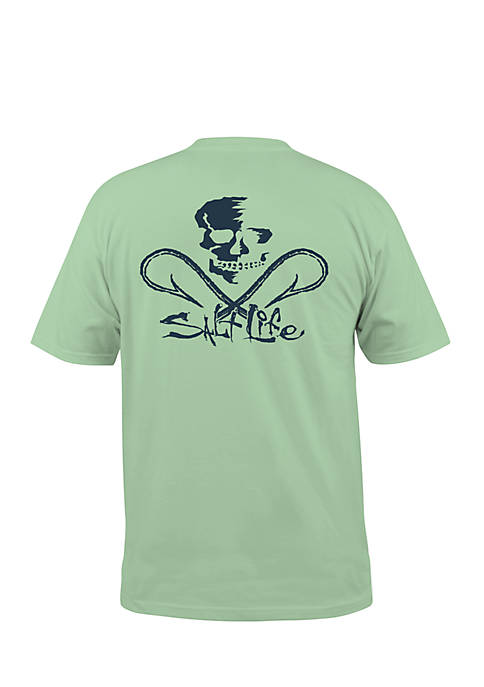 Salt Life Skull and Hooks Short Sleeve Graphic