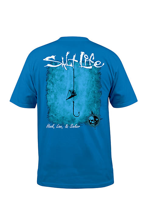 Salt Life Hook Line and Sinker Fade Short