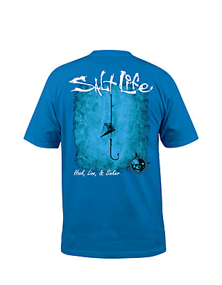 9a8b1eddfd1e Salt Life Hook Line and Sinker Fade Short Sleeve Graphic Tee | belk