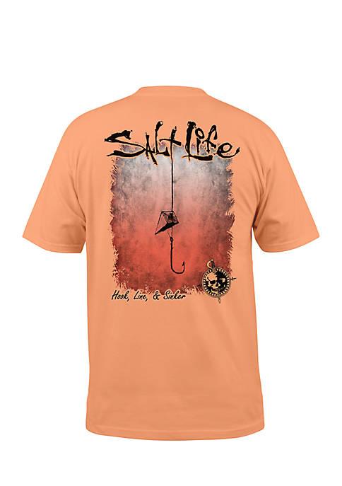 Salt Life Hook Line and Sinker Fade Short