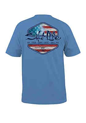 Salt Life Ameriseas Short Sleeve Shirt ... b8d3a0dfcdbe