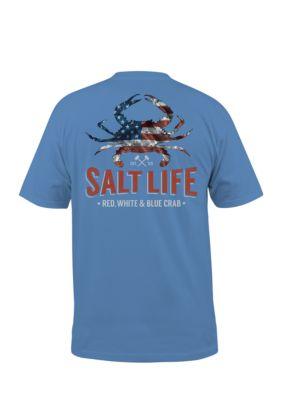 Salt Life Mens American Crab Short Sleeve Shirt