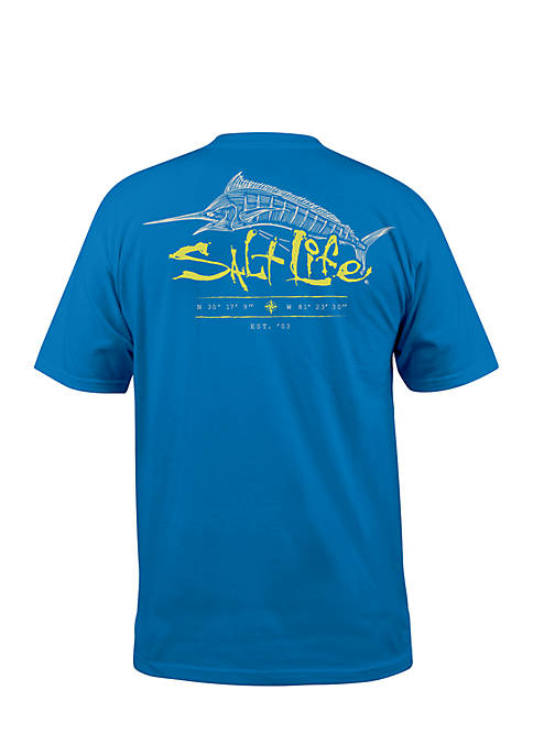 Salt Life Short Sleeve Etched Marlin Tee