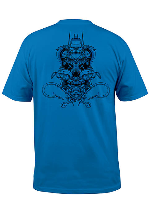 Salt Life Short Sleeve Ghost Ship Pocket Tee
