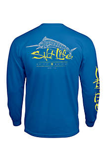 Long Sleeve Etched Marlin Shirt