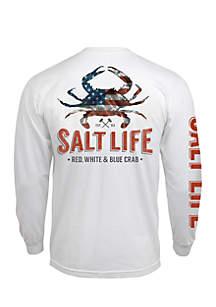 Long Sleeve American Crab Shirt