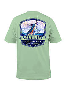 Salt Life Blue Storm Brew T Shirt