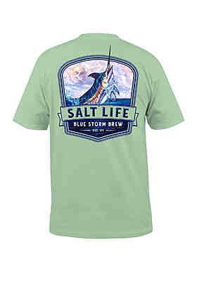 1a172b0cd2c2a Salt Life Blue Storm Brew T Shirt ...