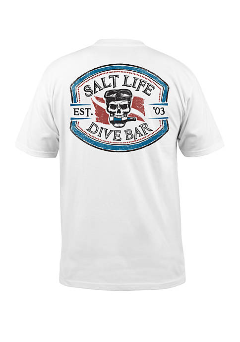Salt Life Mens Short Sleeve Dive Bar Graphic