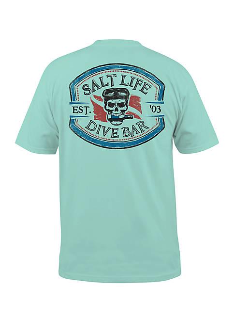 Salt Life Mens Short Sleeve Dive Bar Graphic