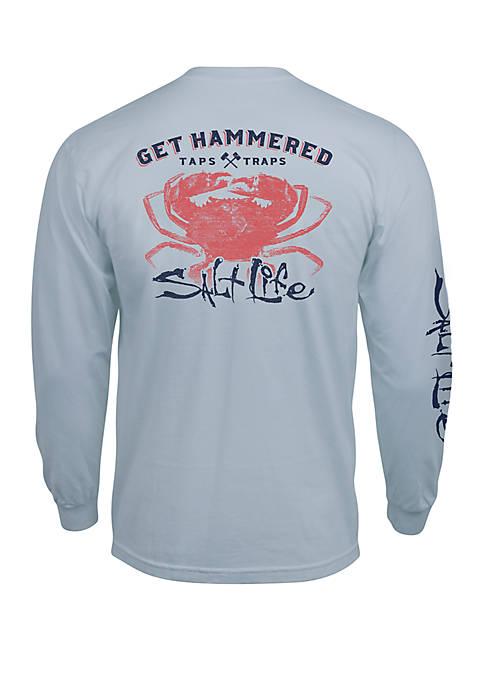 Salt Life Mens Get Hammered Graphic T-Shirt