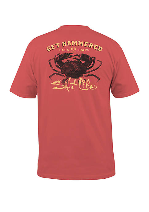 Mens Short Sleeve Get Hammered Graphic T-Shirt