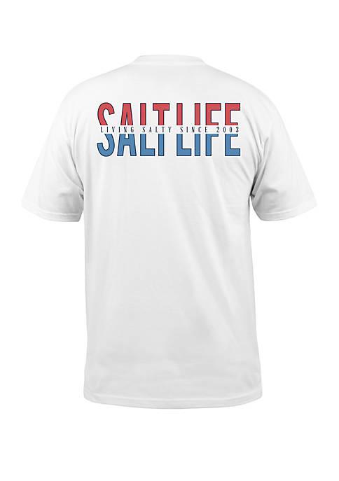Salt Life Mens Americana Graphic T-Shirt