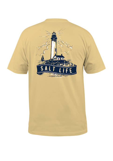 Salt Life Mens Short Sleeve Lighthouse Island Graphic