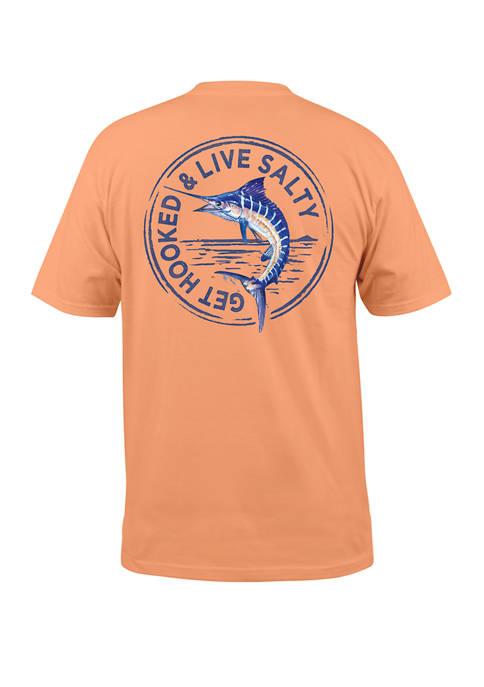 Salt Life Mens Short Sleeve Marlin Stamp T-Shirt