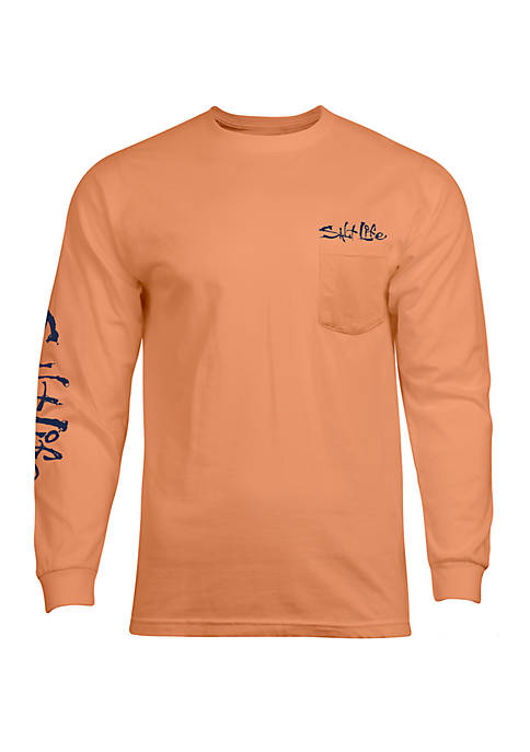 Salt Life Mens Aruba Blue Graphic T-Shirt