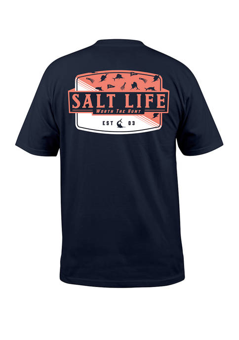 Salt Life Mens Short Sleeve Worth the Hunt