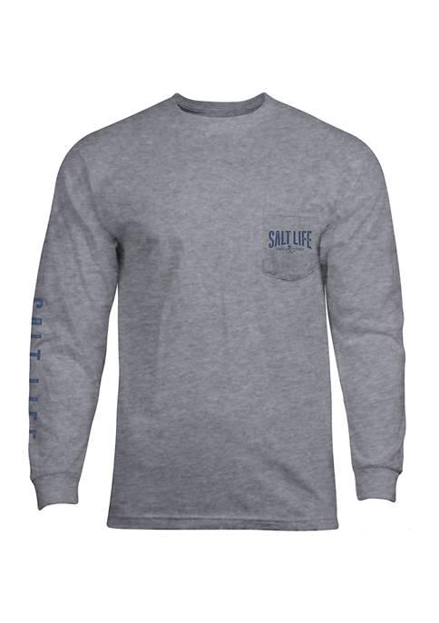 Salt Life Mens Long Sleeve Sunbeam Graphic T-Shirt