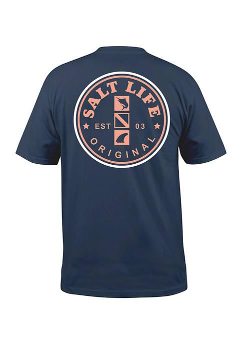 Short Sleeve Salty Mate Graphic T-Shirt