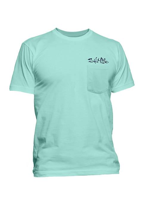Short Sleeve Logo Graphic Pocket T-Shirt