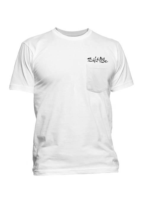 Short Sleeve Pirate Graphic Pocket T-Shirt
